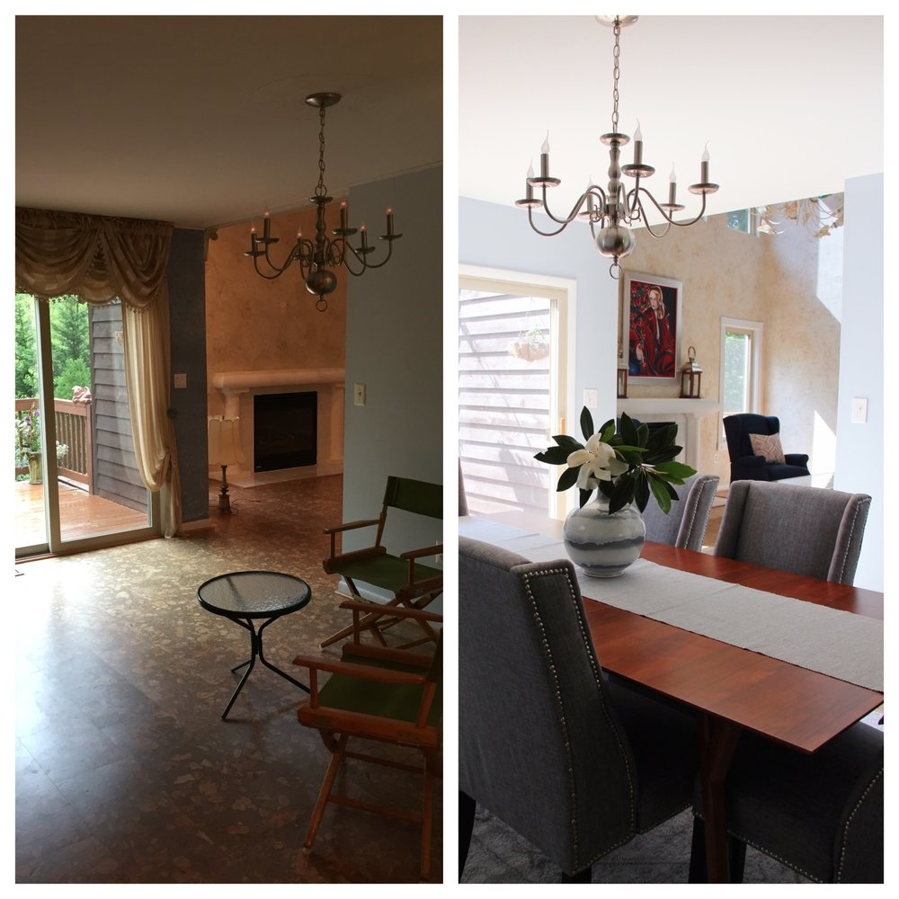 before-and-after-dining-room-lake-house