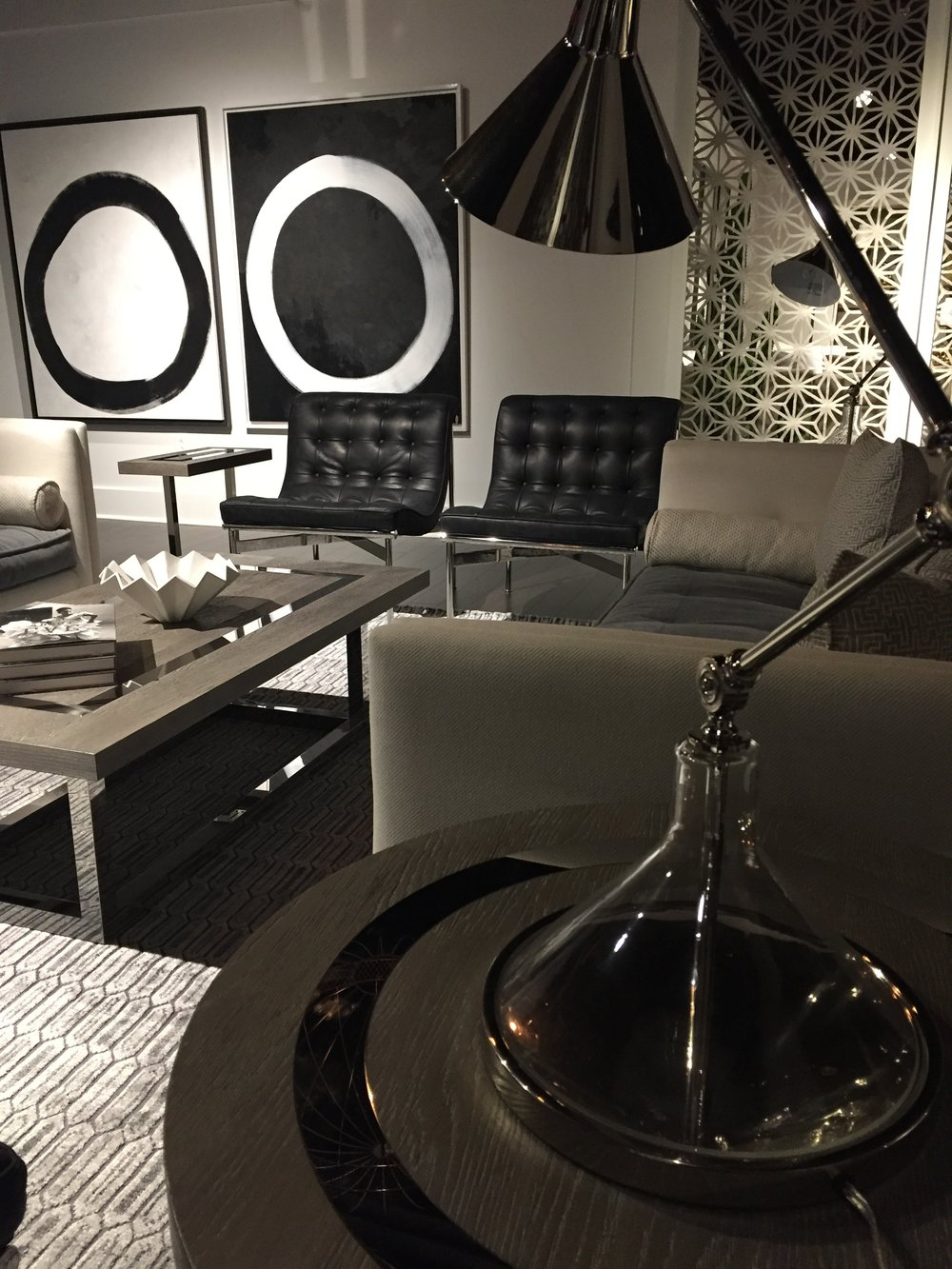 The modern collection at  Universal Furniture  is black and white perfection!
