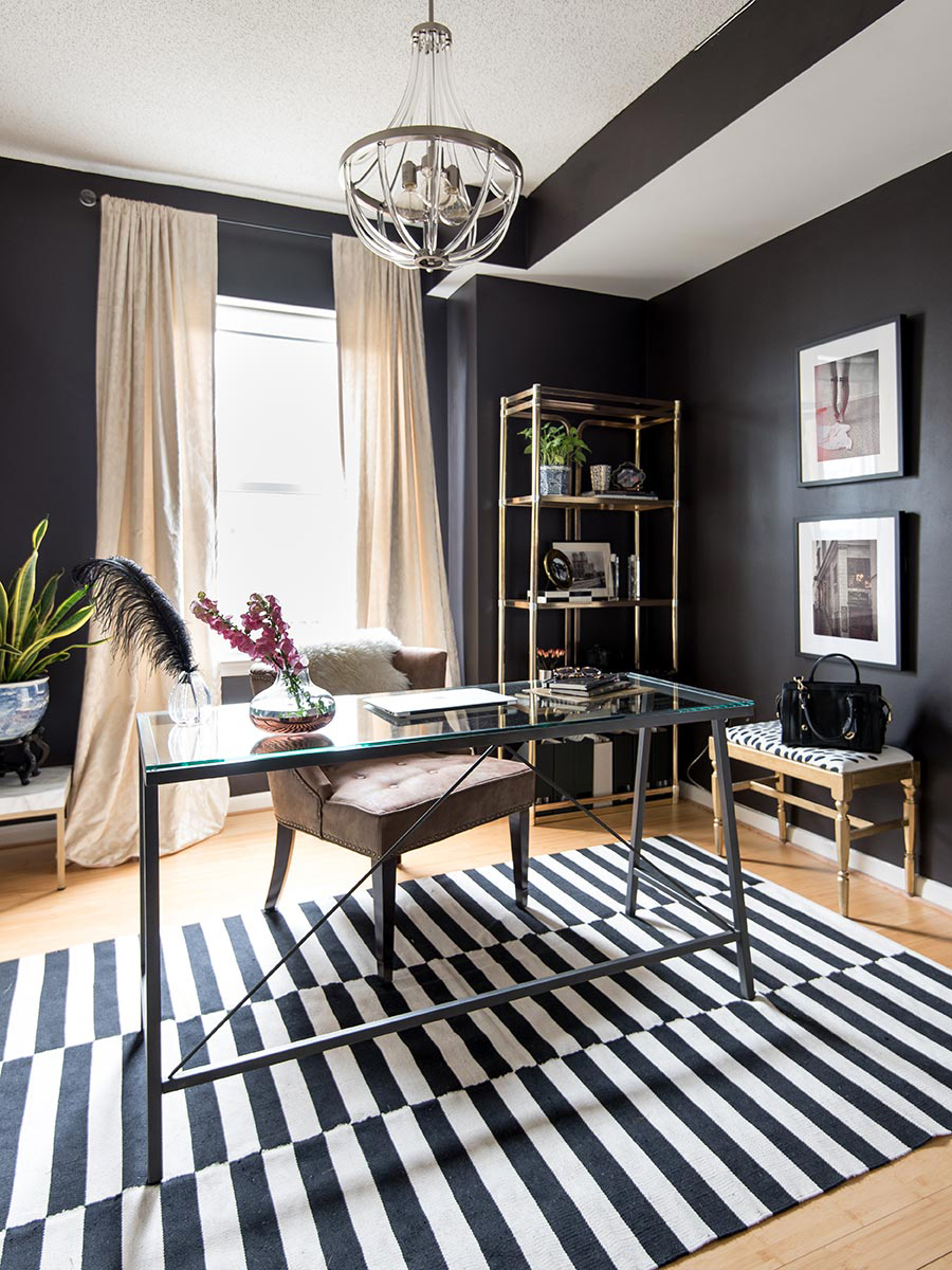 home-office-washington-dc-shaw-splendor-styling-mariella-cruzado-designer-interiors-dark-walls-condo