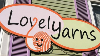Lovely Yarns - 3610 Falls Road Stop here for your yarn and knitting needs Turn right