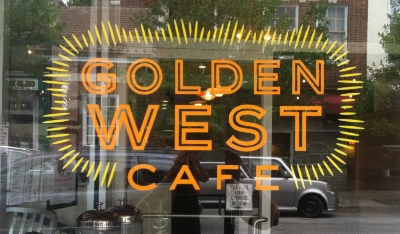Golden West - 1105 W 36th Street Stop here for southwestern cuisine, a full bar, and a take out window for coffee, tacos, and waffles! Turn right
