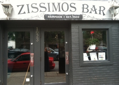 Zissmos Bar - 1023 W 36th Street Stop here for a full bar, improv and stand up comedy upstairs Turn right