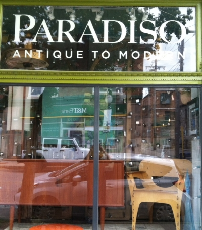 Paradiso - 1015 W 36th Street Stop here for a beautiful assortment of modern furniture, fine craft, and jewelry Turn right