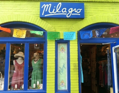 Milagro - 1005 W 36th Street Stop here for a global boutique of clothing, jewelry, and folk art Turn right