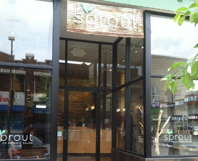 Sprout Organic Salon - 95 W 36th Street Stop here for your organic hair cuts, colors, and needs Turn right