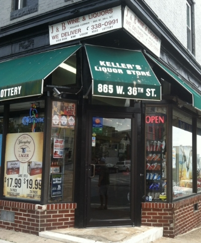 Keller's Liquor Store - 865 W 36th Street Stop here for your liquor and lottery Turn right