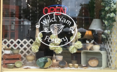 Wild Yam Pottery - 863 W 36th Street Stop here for handmade stoneware and porcelain pottery Turn right