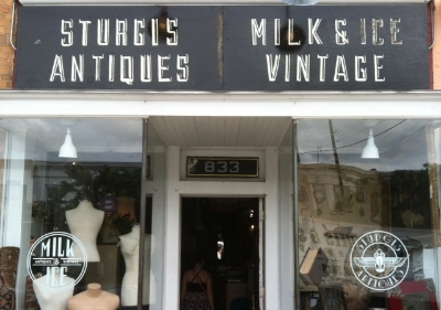 Milk & Ice Vintage * Sturgis Antiques - 833 W 36th Street Stop here for a unique blend of artifacts and oddities, vintage clothing and home goods Turn right