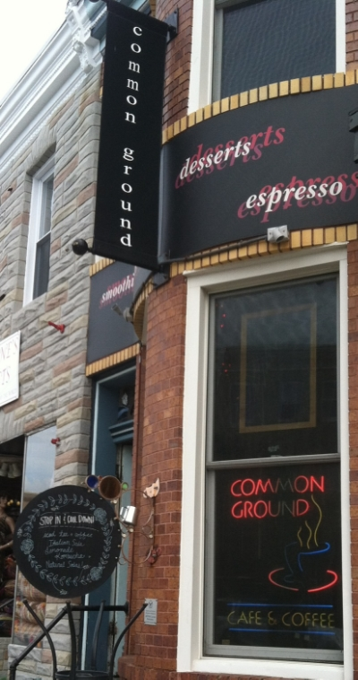 Common Ground - 819 W 36th Street Stop here for coffee, muffins, sandwiches, salads and soups Turn right