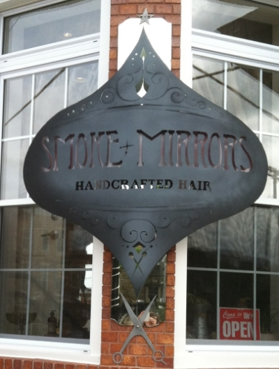 Smoke + Mirrors - 811 W 36th Street Stop here for a hair salon specializing in handcrafted hair and organic color Turn right