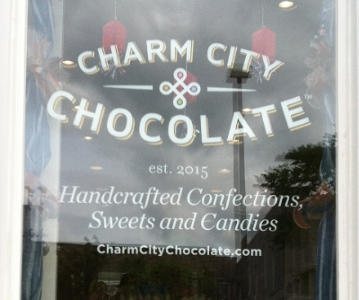 Charm City Chocolate - 809 W 36th Street Stop here for handcrafted confections, sweets, and candies Turn right