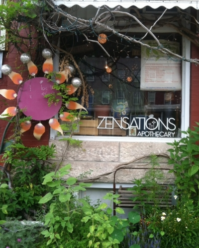 Zensations - 3408 Chestnut Avenue Stop here for herbal products, teas, spices, and tinctures Turn right