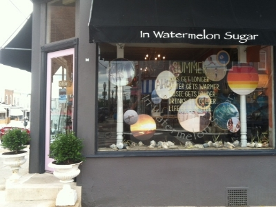 In Watermelon Sugar - 3555 Chestnut Avenue Stop here for an eclectic mix of furniture and accessories Turn right