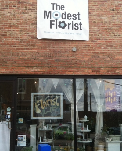 The Modest Florist - 3601 Chestnut Avenue Stop here for a full service florist supporting local growers Turn right and cross Chestnut and continue past the church