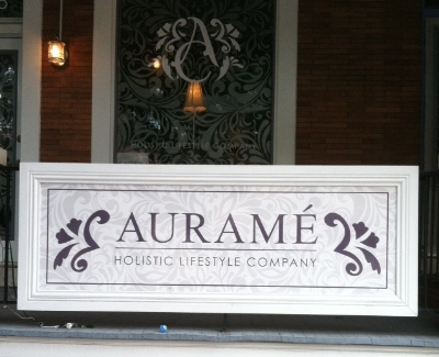 Aurame - 836 W 36th Street Stop here for eco conscious gifts, body and spa products Turn right