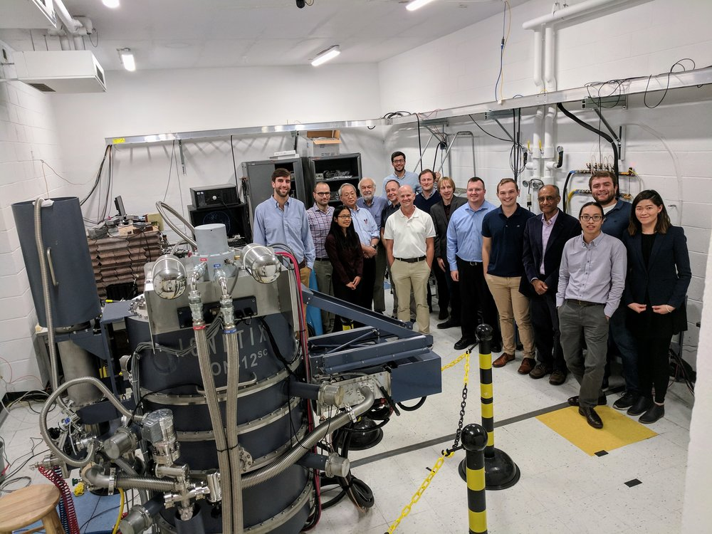 The ARI collaboration -- faculty, research staff, students and program managers -- next to ION-12(sc).