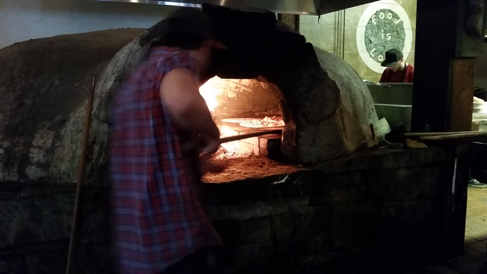 Pizza oven at Creekwood Pizza in Creekside Village.