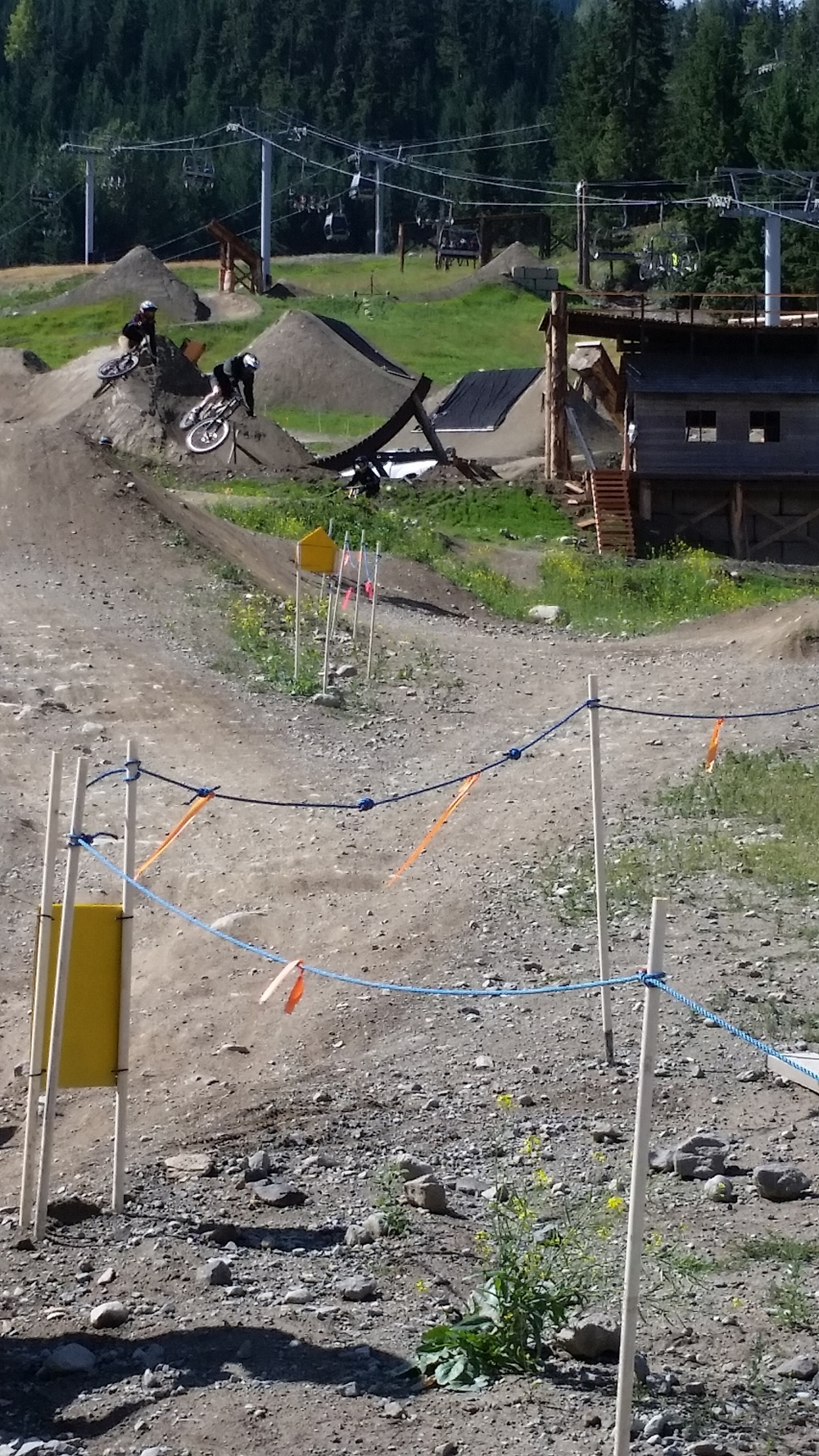The downhill mountain bike scene in Whistler is amazing.