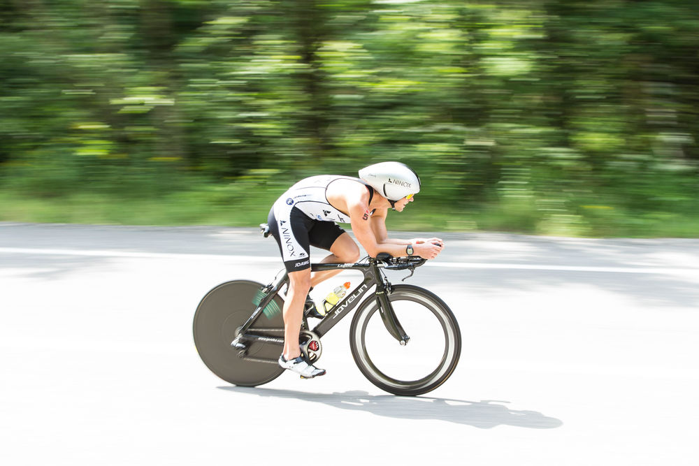 Awesome photo, taken by Korupt Vision, in the closing miles of the bike leg on a very fast section of the course. I exited the bike in 4th position. I was well off the lead, but 2nd-5th were within ~4-5 minutes at the start of the marathon.