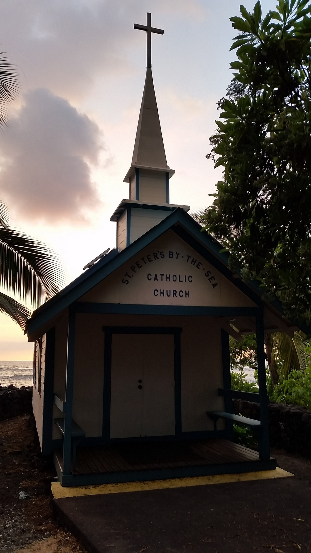 This church is situated on the one other Ali'i Drive beach near the run turnaround.