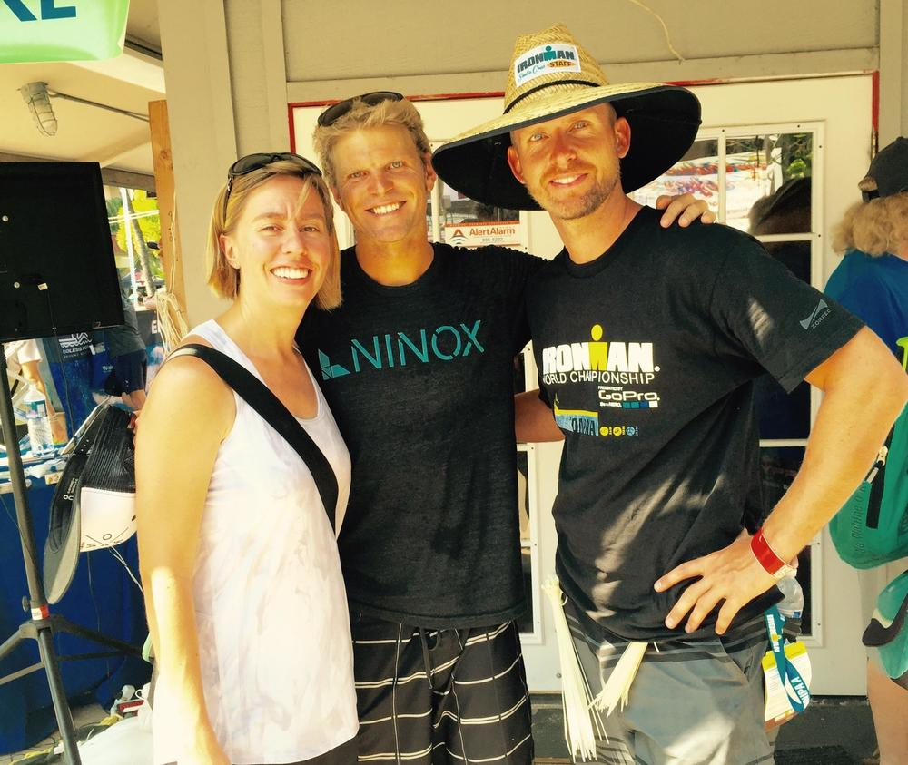 Brooke and I with one of the best in the biz, Dave Christen (RD of IM Boulder, Boulder 70.3 BPeak and various other legs of IM races around the States).