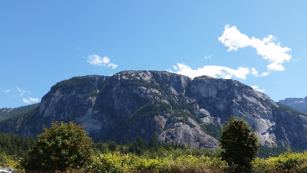 The view from Squamish where we stopped for lunch on the drive to Whistler.