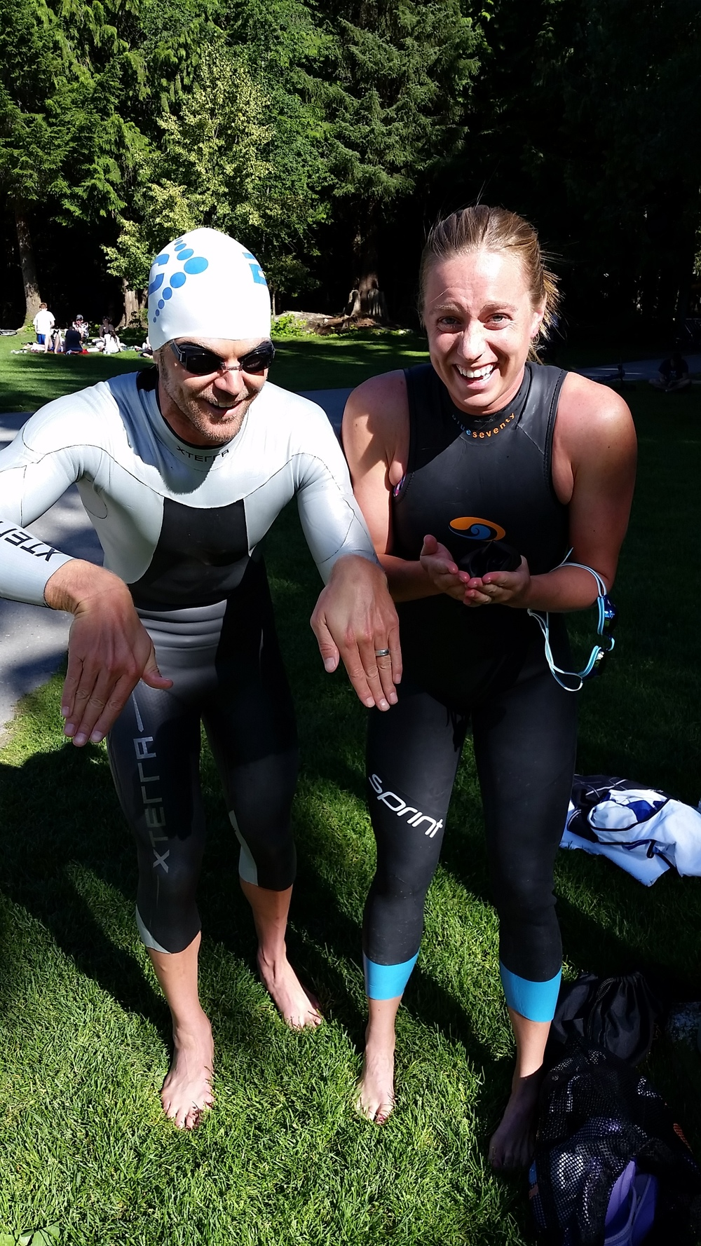 Our friends, Jenny and Rob Ferris, joined us on this trip. I do the majority of my swim training with Jenny in Boulder and here I am demonstrating proper breaststroke technique to the former Olympic Trials swimmer. She appreciated the tips.
