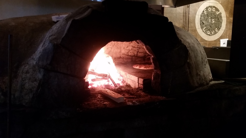 Friday dinner included a trip to CreekBread Pizza; an awesome spot with this impressive pizza oven.