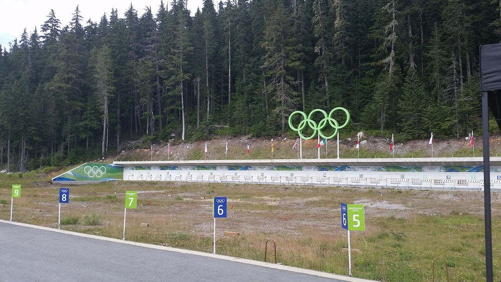 Venue for the Biathlon competition at the 2010 Olympics.
