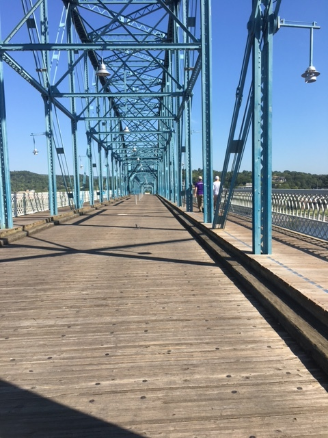 Checking out the Run course on Friday. Athletes crossed over this bridge twice in final mile of each run loop.
