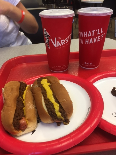 We headed back to Atlanta and stopped at Varsity; a famous hot dog spot near downtown and Georgia Tech.