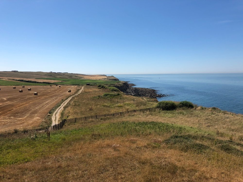 French coastline. You can see a German bunker near the end of the dirt road.