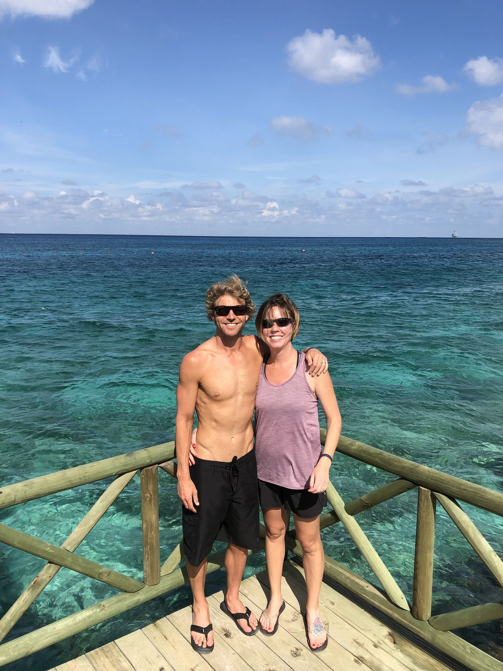 Final hours in Cozumel. Cozumel is known for its diving and snorkeling and with the water in the background you can clearly see why.