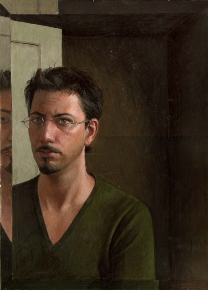 Portrait of a Young Man Egg Tempera on Gesso, 14 x 12 inches -Sold-