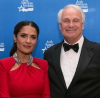 Executive Producer Will Nix and Producer Salma Hayek.  Kahil Gibran's  The Prophet  was released theatrically on August 7, 2015    Photo Courtesy of the AAI Foundation