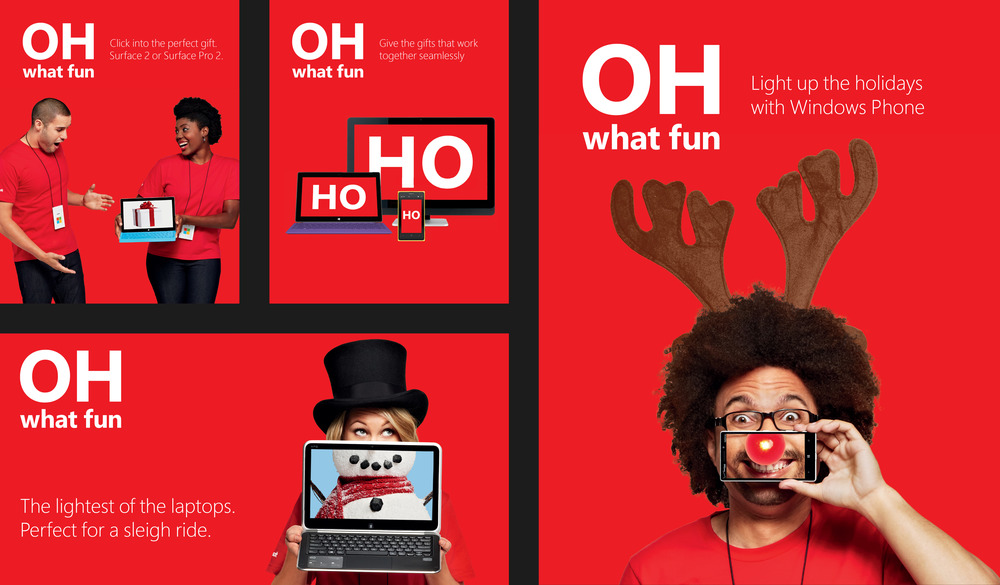 microsoft store holiday campaign 2013 robby belmes art director
