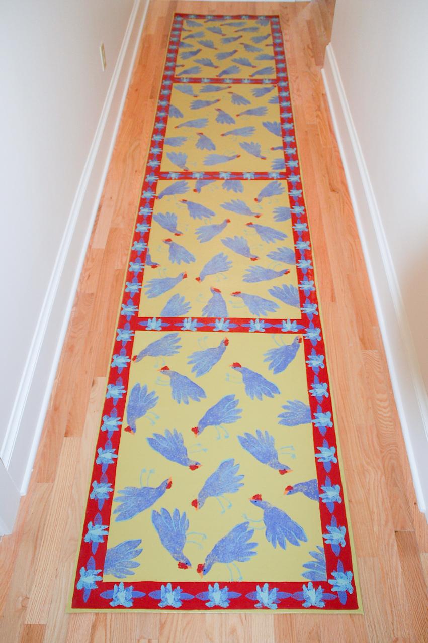 Ann's Hallway of Chickens