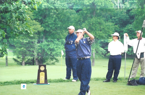 The Homestead, Virginia - First hole of the final round of the 2004 NCAA Division I National Championship.