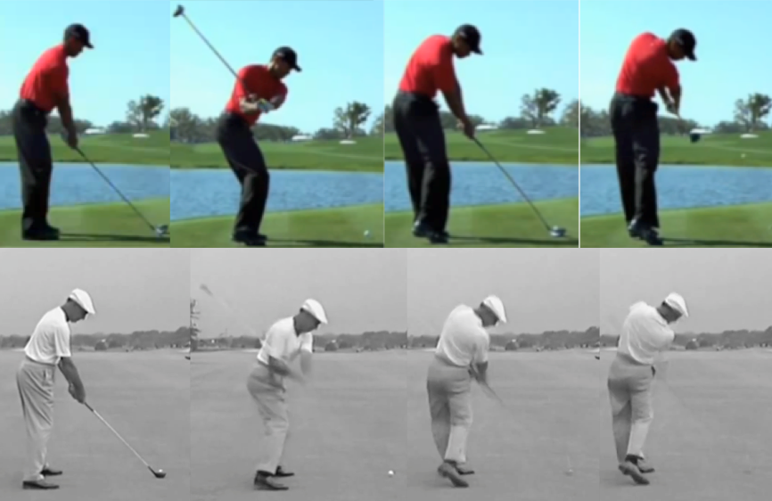 Tiger Woods struggles with his driver from time to time. When compared to one of the most accurate drivers of the golf ball of all time, there are some very clear differences.