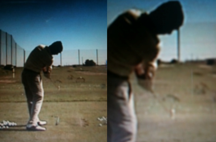 Excessive club face rotation through impact.