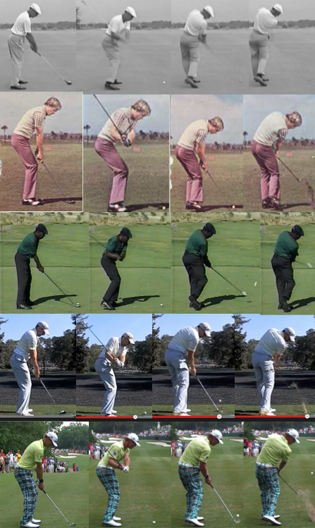 A few of the noteworthy ball strikers from past and present whose accuracy is/was consistently impressive.    Year-to-date   Total Ball Striking   rankings on the PGA Tour - July 25, 2014    Ben Hogan (Arguably one of the greatest ball strikers of all time), Johnny Miller (Known for his superior iron play), Calvin Peete (Led the PGA Tour in Driving Accuracy for 10 consecutive years), Sergio Garcia (#3), Graham DeLaet (#1)