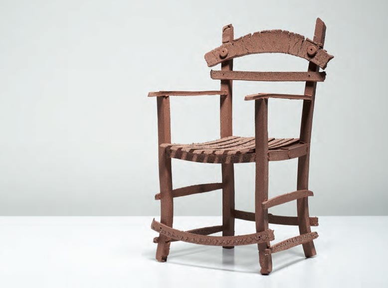 Alex Scott     Grannie's wee chair     Terracotta crank, 2013