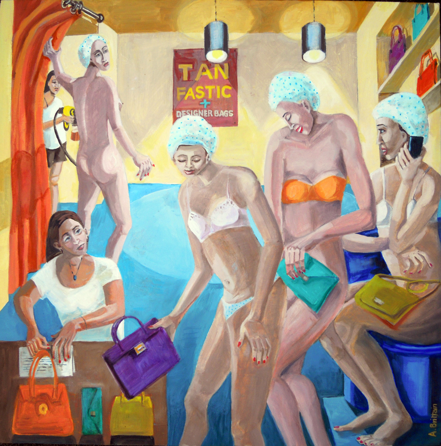 Real tans - fake bags by  Angela Brittain