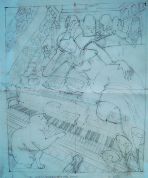 "Stage 1     Drawing for ""The Notes Carried on the wind"""