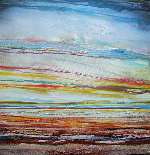 Mike Bell , Sunset low tide coast rhythms and textures 1ab