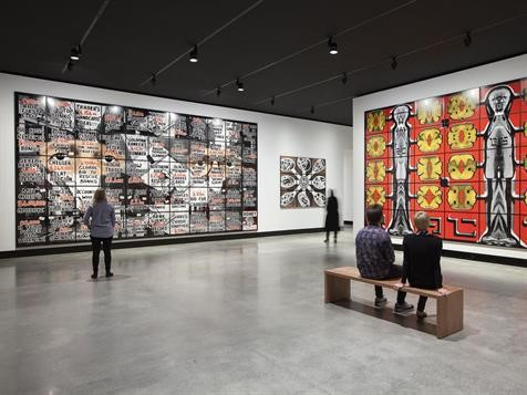 Installation view Gilbert & George at Mona; courtesy the gallery