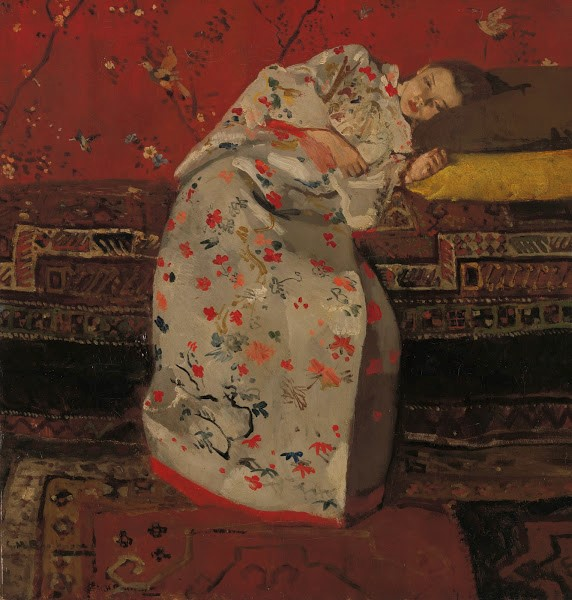 Girl in White Kimono, G.H. Breitner, 1893/94, Rijksmuseum Twenthe, Enschede