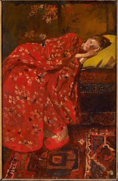 Girl in a Red Kimono (Geesje Kwak), c. 1895-1896, George Hendrik Breitner. Gemeentemuseum, The Hague