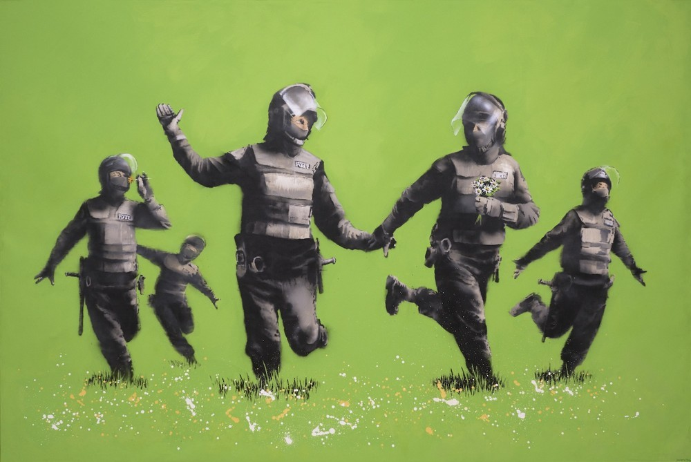 Banksy -Beanfield (2009)
