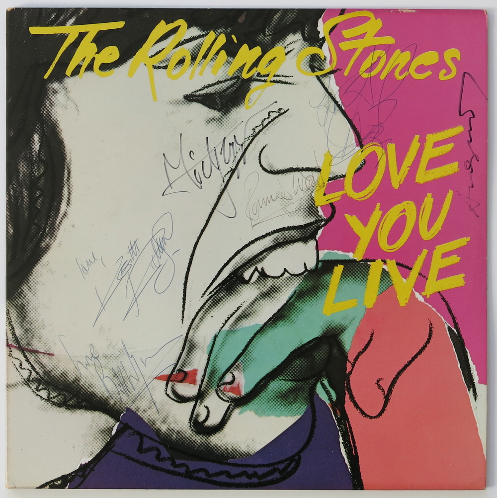 Album cover Love you Live,design by Andy Warhol